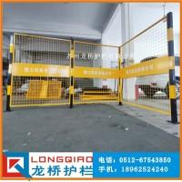 江苏企业区域带LOGO警示隔离网 车间隔离网 龙桥护栏厂订制